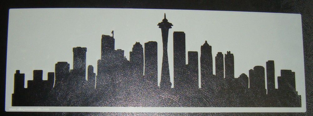 Seattle Skyscraper Skyline Cake or Craft Stencil