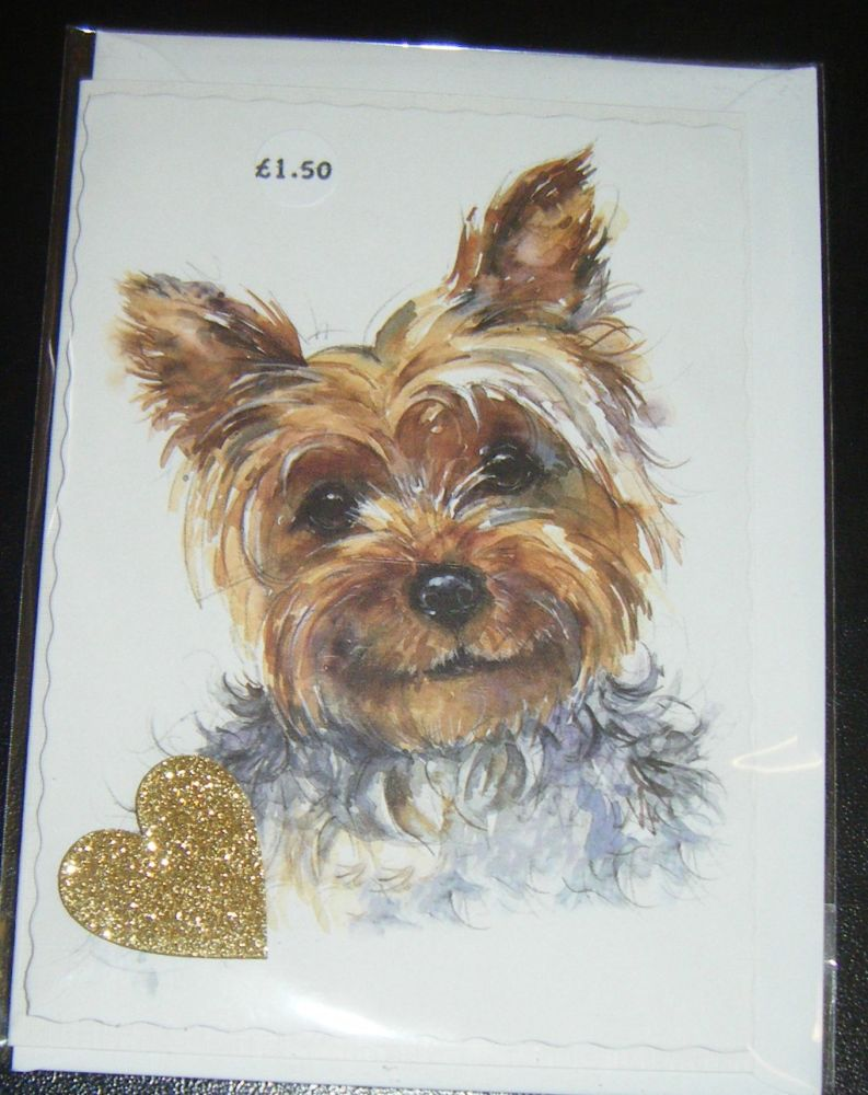 Yorkshire Terrier - Dog Greeting Card Blank Inside