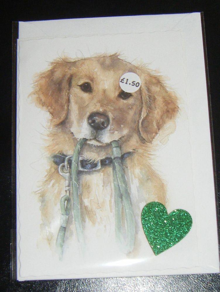 Labrador - Dog Greeting Card Blank Inside