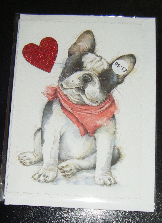 French Bulldog - Dog Greeting Card Blank Inside