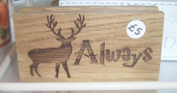 Always Stag Silhouette - Wood Block