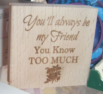 You'll Always Be My Friend - You Know Too Much