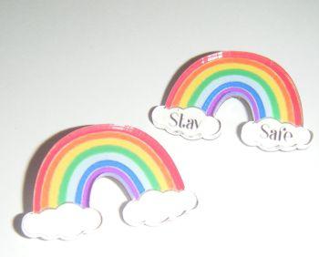 Rainbow Pin Brooch