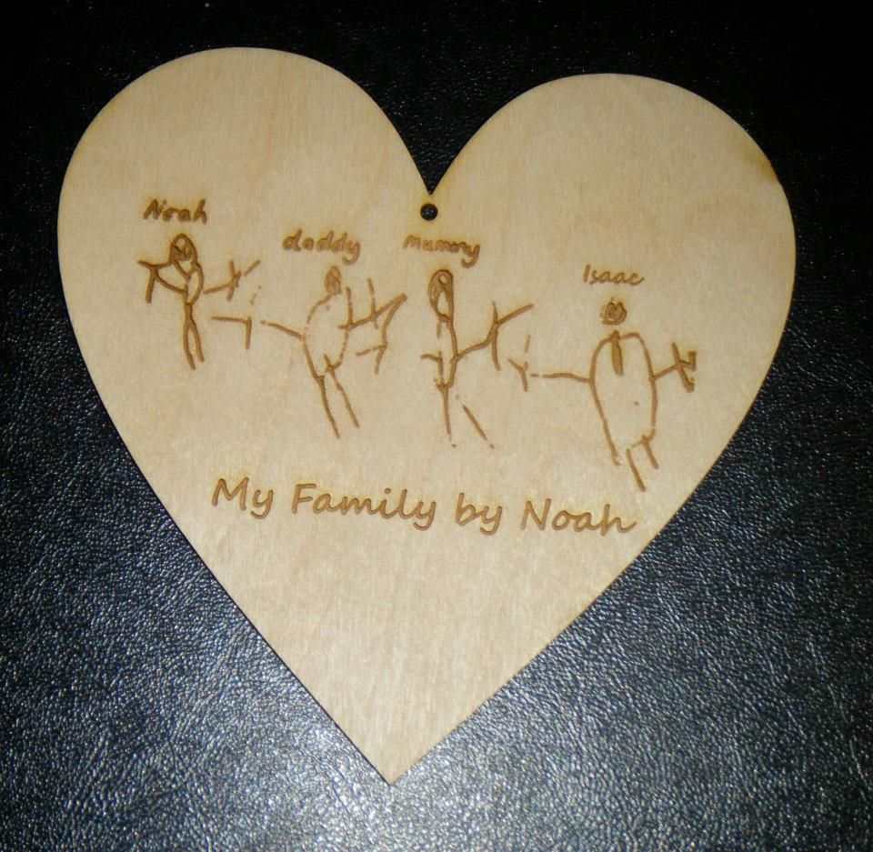 Custom Personalised Laser Engraved  Wooden Plaque