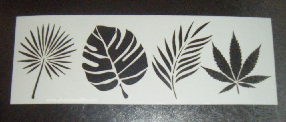 Tropical Leaves Cake Decorating Stencil Airbrush Mylar Polyester Film