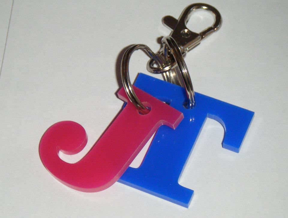 Double Letter Keyring - Any Acrylic Colours