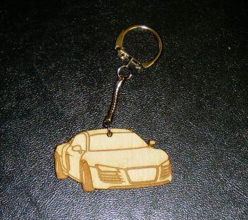 Car Shape Keyring - Lasercut - Can Be Personalised