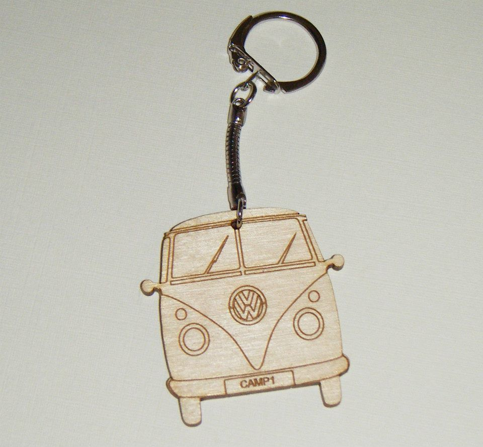 Campervan Shape Keyring - Lasercut - Can Be Personalised