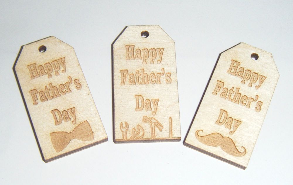Wooden Mini Gift Tag - Business or Wedding, Christening etc
