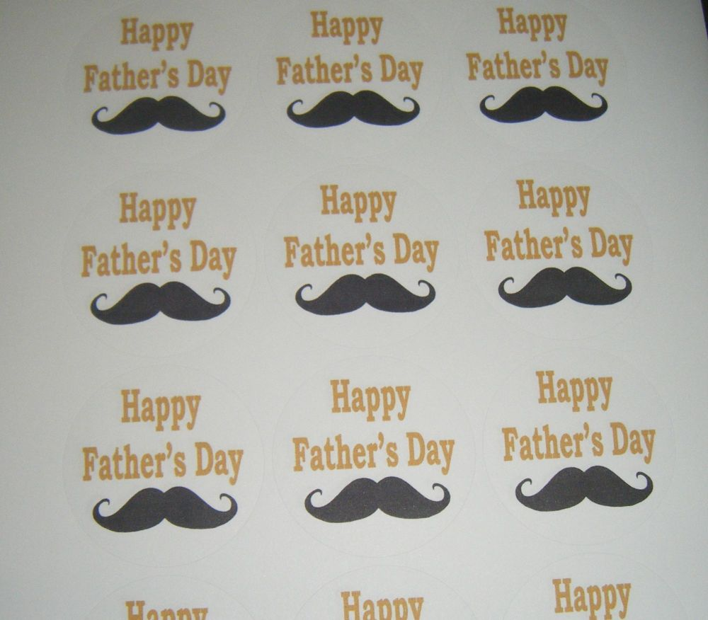 A4 Sheet of Round Father's Day Stickers