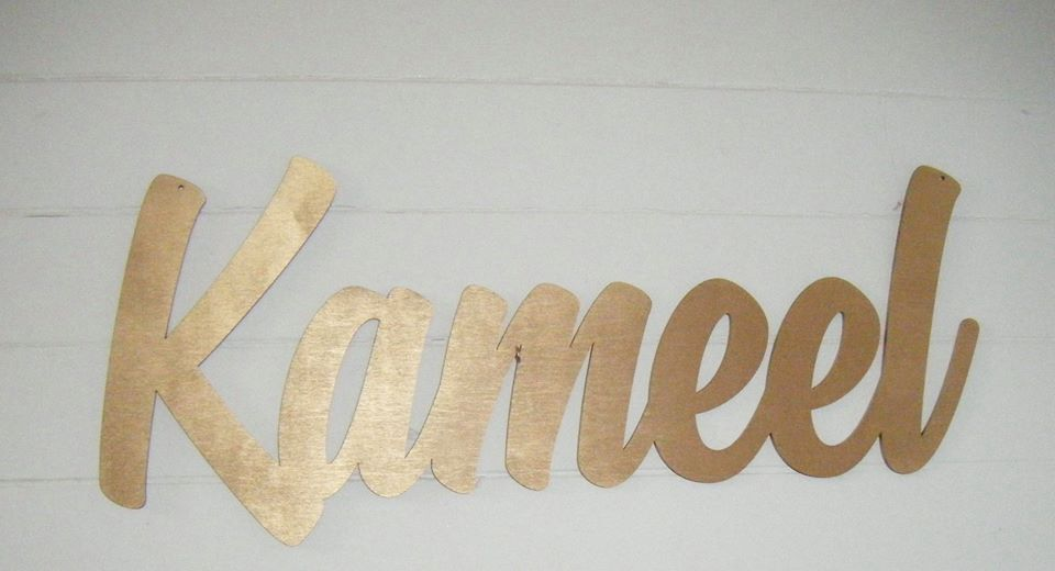 Any Name  - Wooden Name Plaque Sign 60cm long