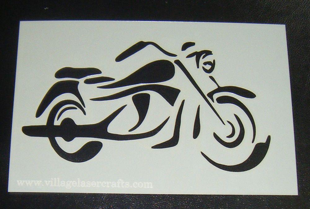 Motorbike Silhouette Cake or Craft Stencil Design 2