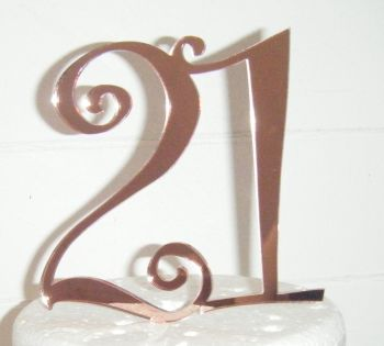 21 Cake Topper 2  (Sold design Exactly as shown)
