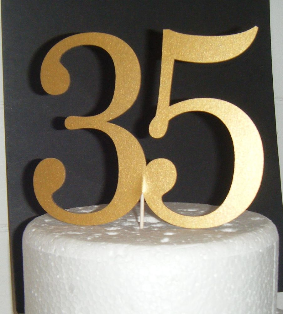 35 Cake Topper  (Sold design Exactly as shown)