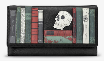 Shakespeare Bookworm Flap Over Leather Purse - Yoshi