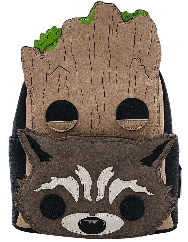Loungefly Guardians of the Galaxy Groot Rocket Mini Backpack  Bag