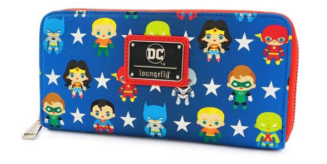 DC Zip Around Wallet by Loungefly - Justice League Chibi Cuties