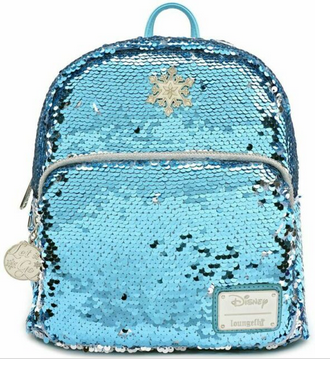Elsa Sequinned Blue - Frozen Loungefly  Mini Backpack Bag