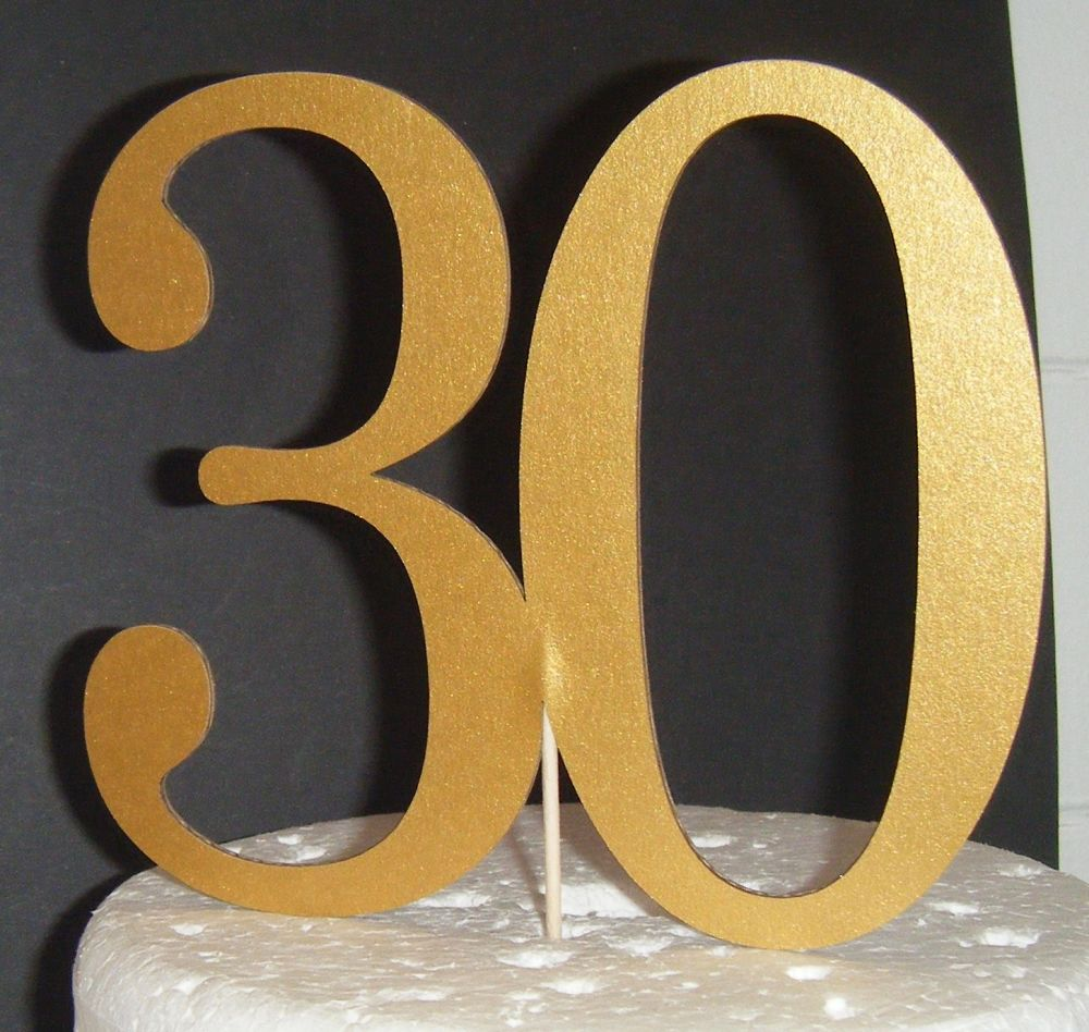30 Cake Topper 6   (Sold design Exactly as shown)