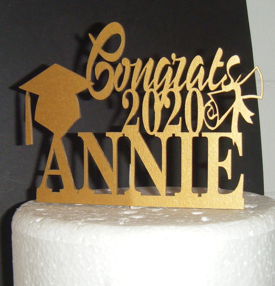 Graduation Cap Any Year - Custom Name  Silhouette Cake Topper