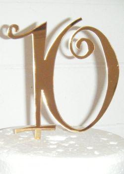 10 Ten Cake Topper (Sold design Exactly as shown)