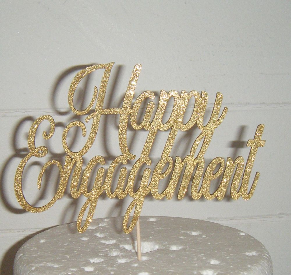 Happy Engagement Cake Topper