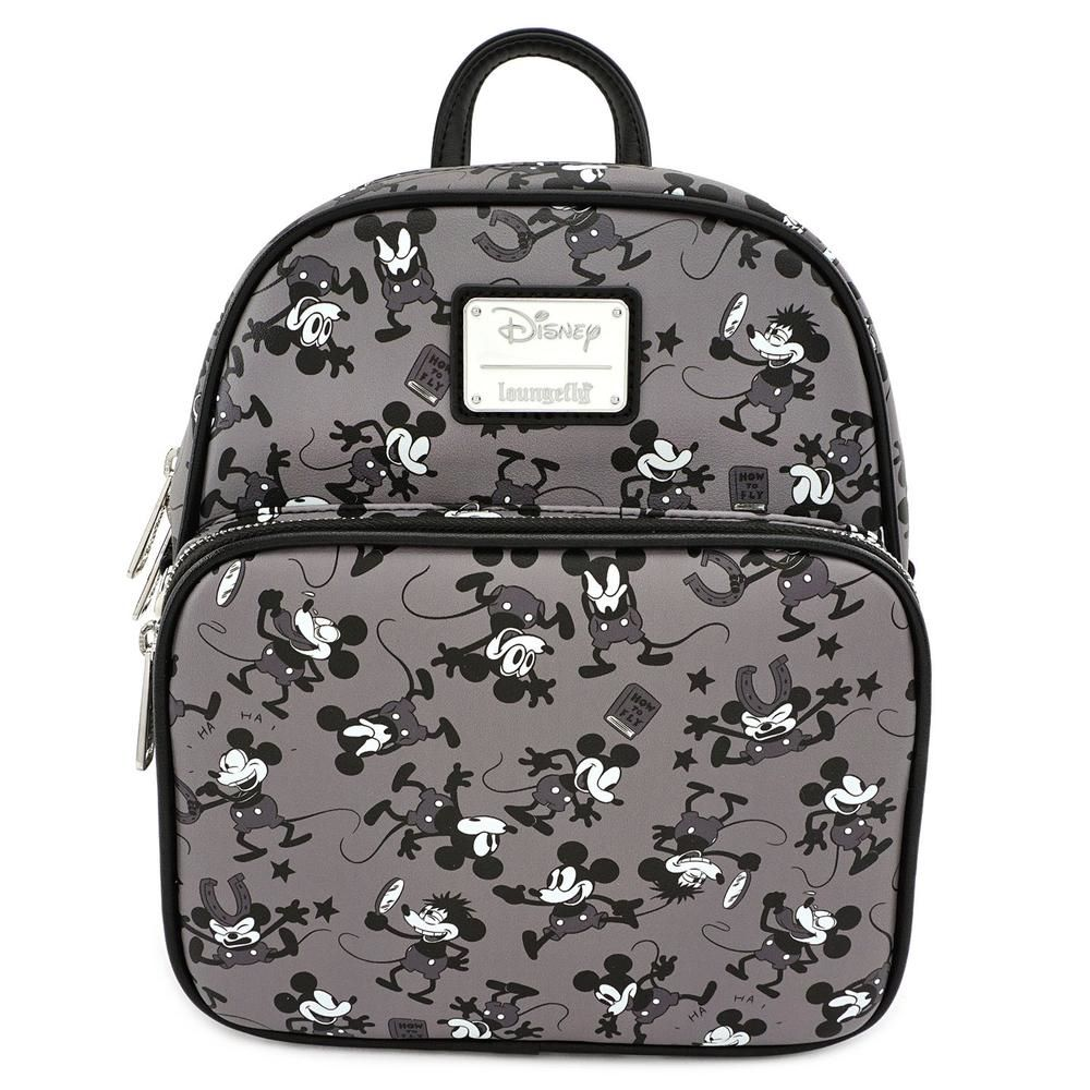 Loungefly Disney Mickey Mouse Plane Crazy Printed Mini Backpack
