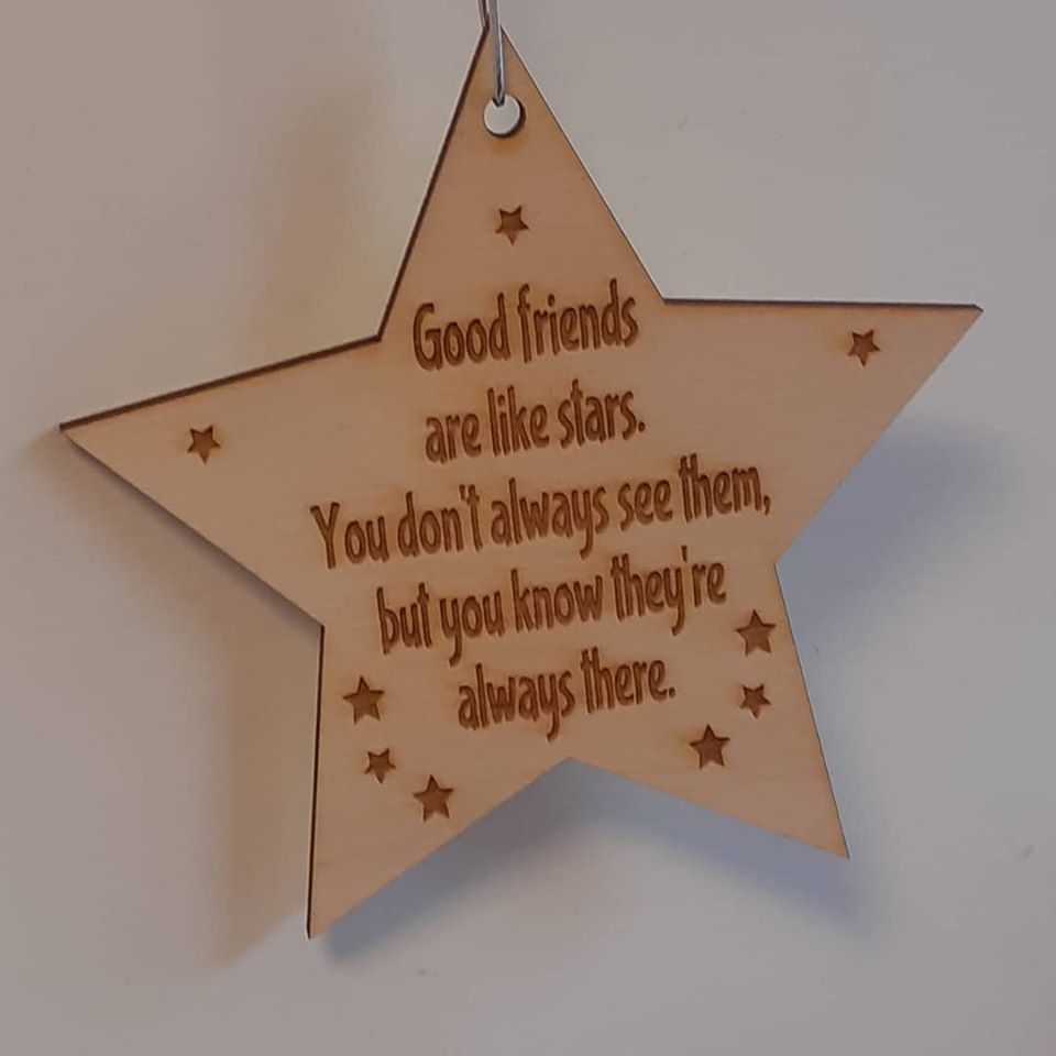 Good Friends Are Like Stars Wooden Plaque