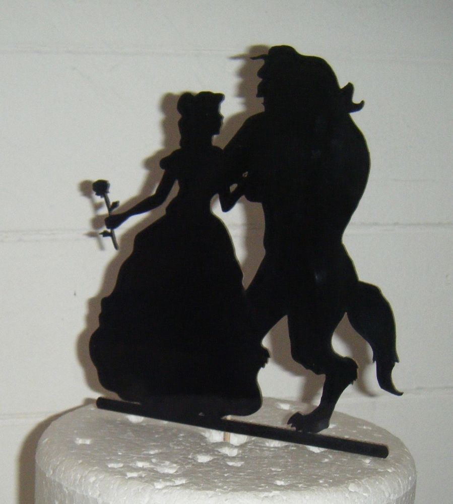 Beauty and The Beast Silhouette Cake Topper