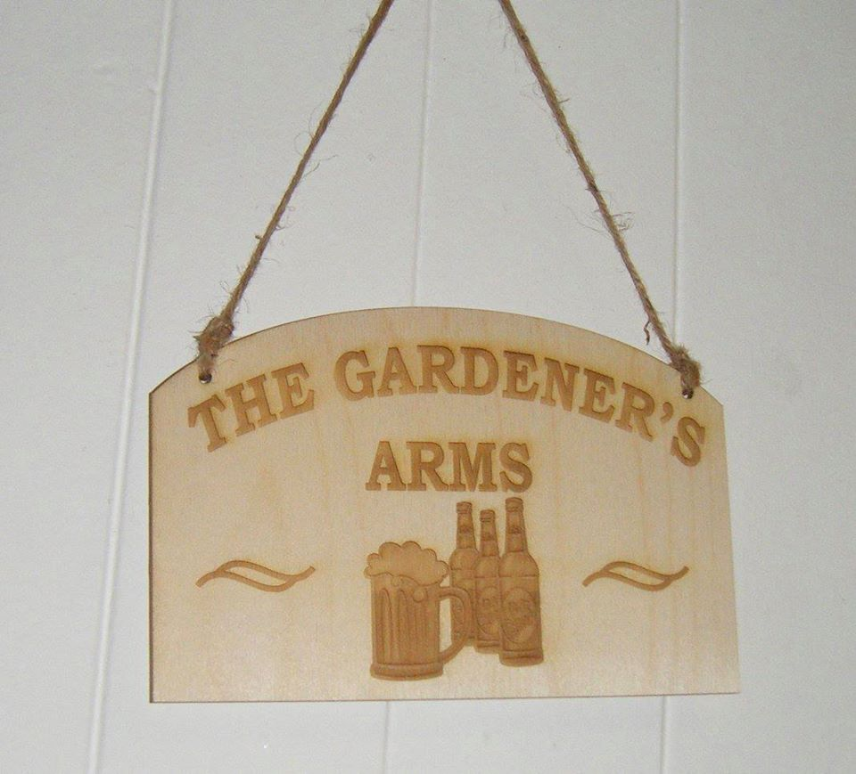 Large Garden Sign Wood Bar Name Etc
