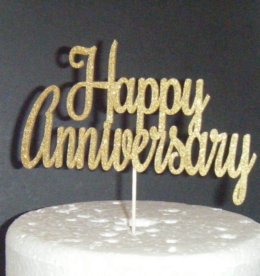 Happy Anniversary Cake Topper Design 2