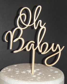 Oh Baby Shower Cake Topper Design 2