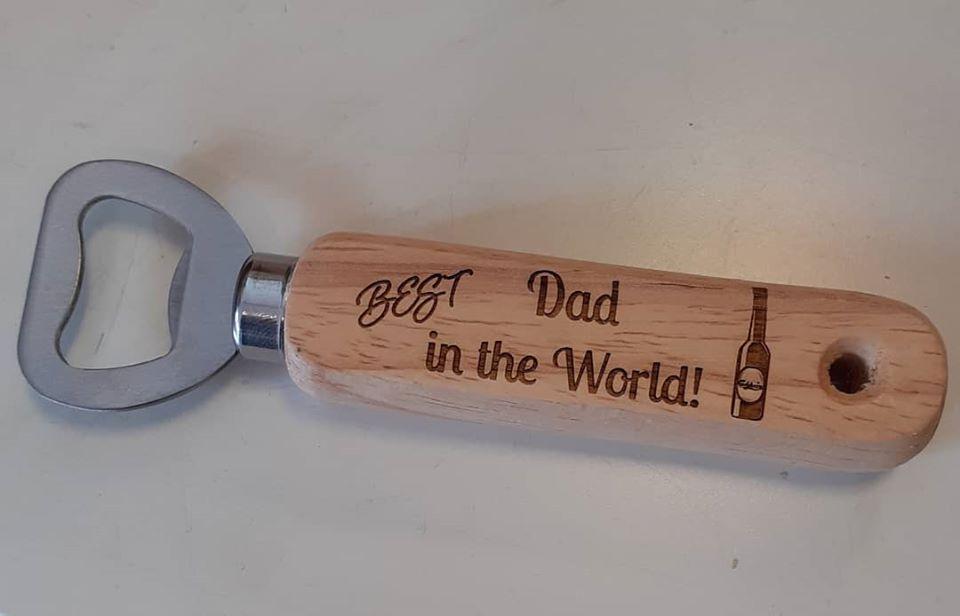 Wooden Engraved Bottle Opener - Custom Order