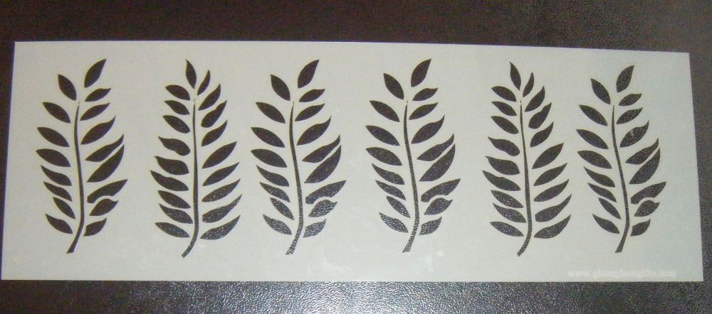 Leaf Design Style 1 Cake Decorating Stencil Airbrush Mylar Polyester Film