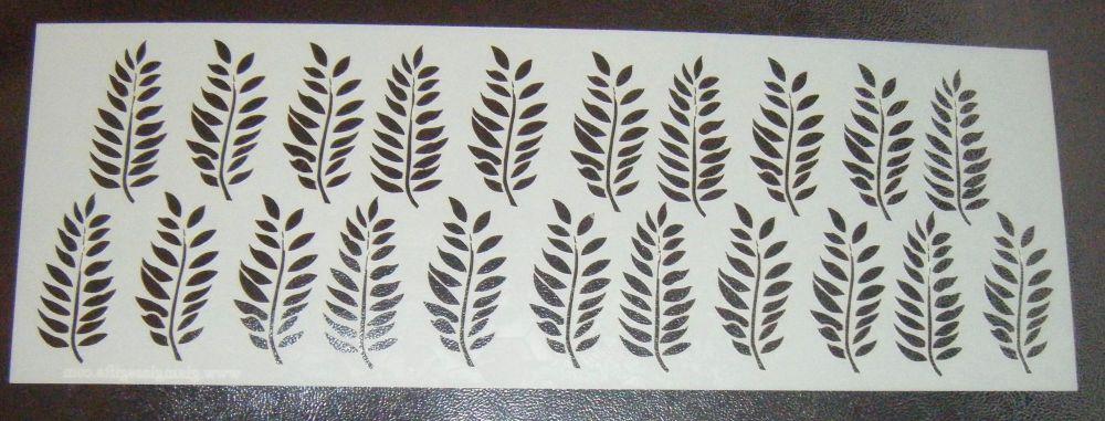 Leaf Design Style 2 Cake Decorating Stencil Airbrush Mylar Polyester Film