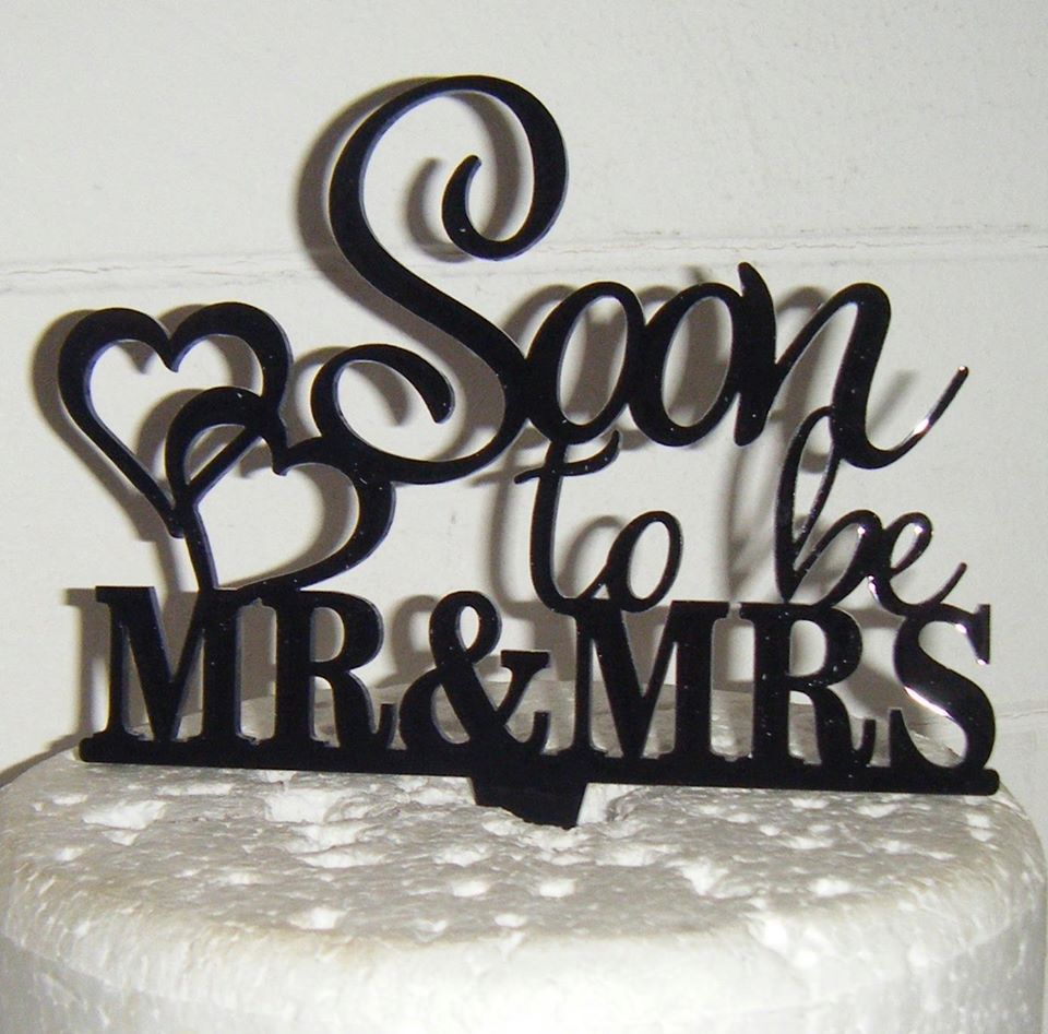Soon To Be Mr + Mrs Wedding Cake Topper