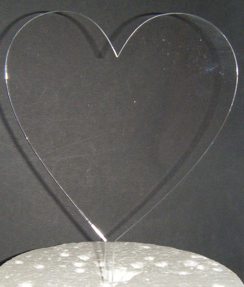 Acrylic Blank - Heart Silhouette Cake Topper