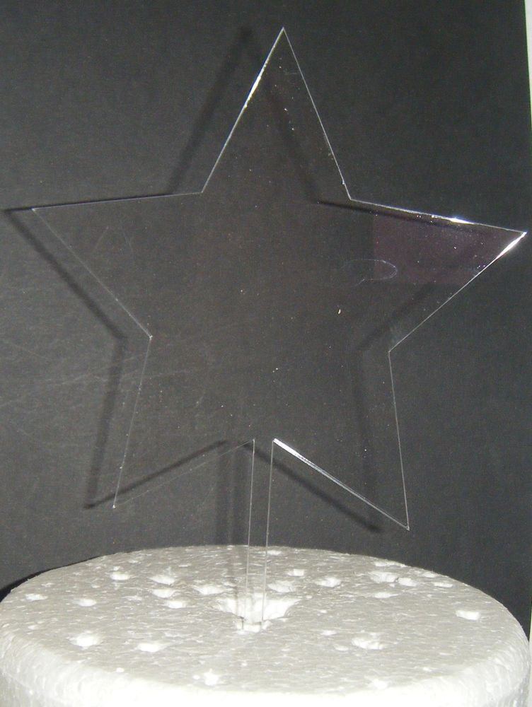 Acrylic Blank - STAR -  Silhouette Cake Topper