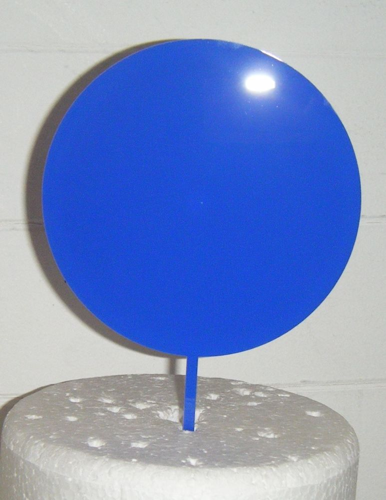 Acrylic Blank - Circle -  Silhouette Cake Topper