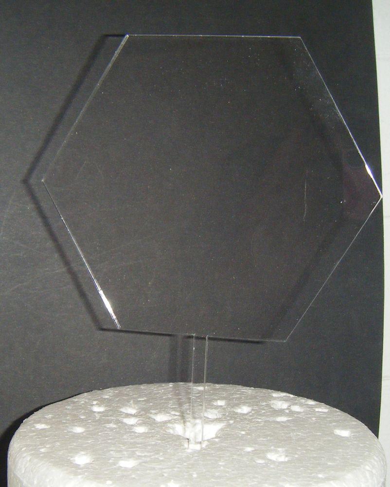 Acrylic Blank - Hexagon -  Silhouette Cake Topper