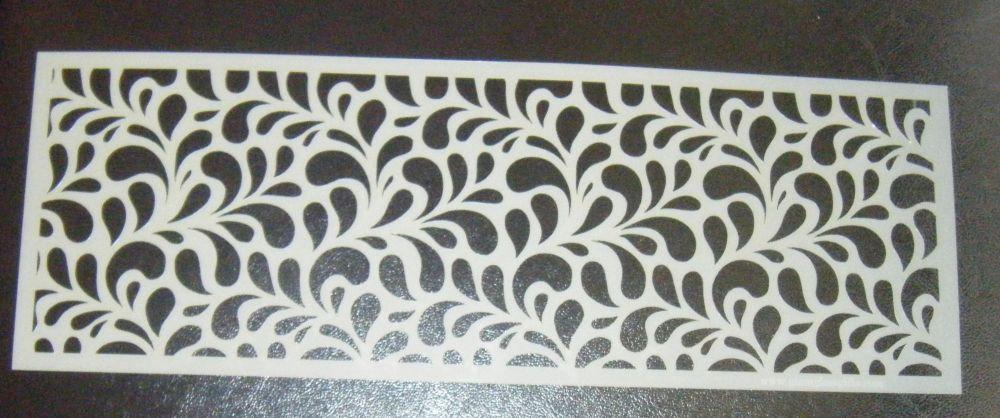 Splash  Swirl Small Pattern Cake Decorating Stencil Airbrush Mylar Polyeste