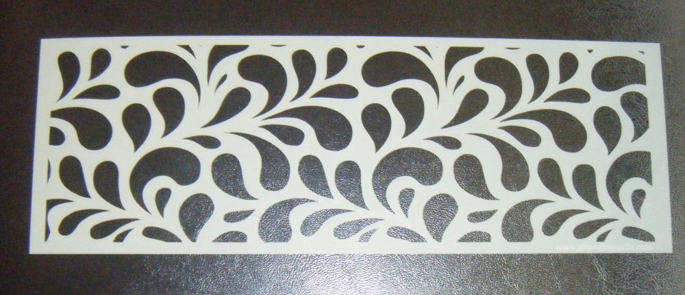 Splash Swirl Large Pattern Cake Decorating Stencil Airbrush Mylar Polyester