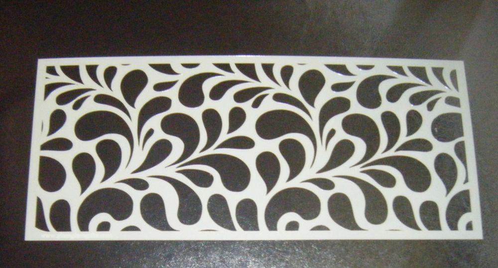 Splash Swirl Large Pattern 5 inch Cake Decorating Stencil Airbrush Mylar Po