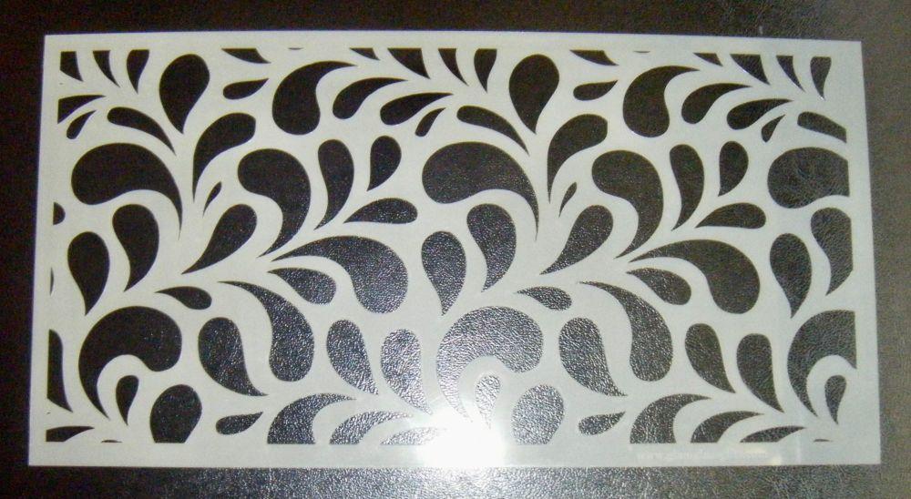 Splash Swirl Large Pattern 6 inch Cake Decorating Stencil Airbrush Mylar Po
