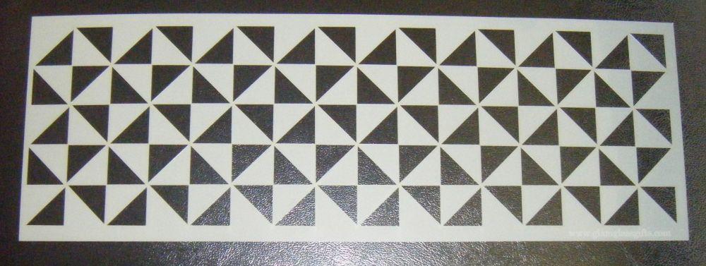 Geometric Optical Illusion Design Cake Decorating Stencil Airbrush Mylar Po