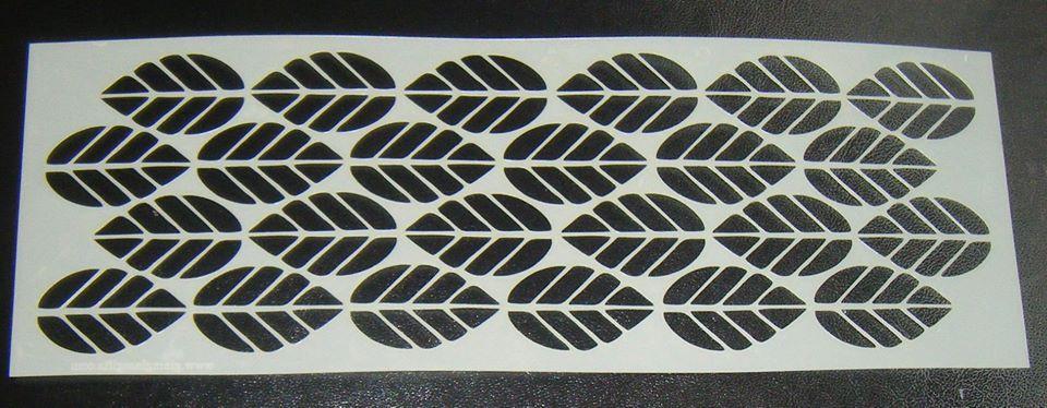 Leaf Pattern Design Style 4 Cake Decorating Stencil Airbrush Mylar Polyeste
