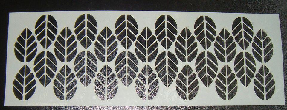 Leaf Pattern Design Style 3 Cake Decorating Stencil Airbrush Mylar Polyeste