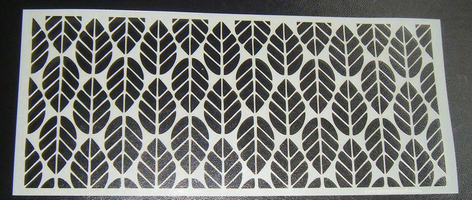 Leaf Pattern Design - 5 inch Deep -  Cake Stencil Airbrush Mylar Polyester