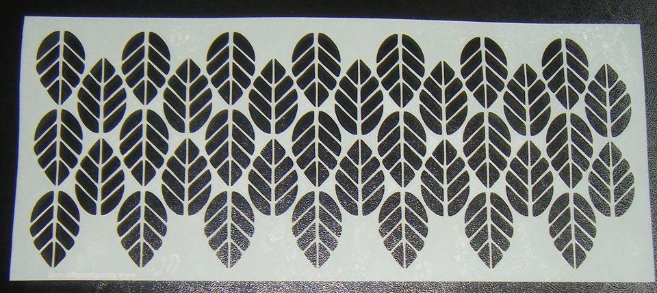 Leaf Pattern Design Style 5 - 5 inch Deep -  Cake Stencil Airbrush Mylar Po