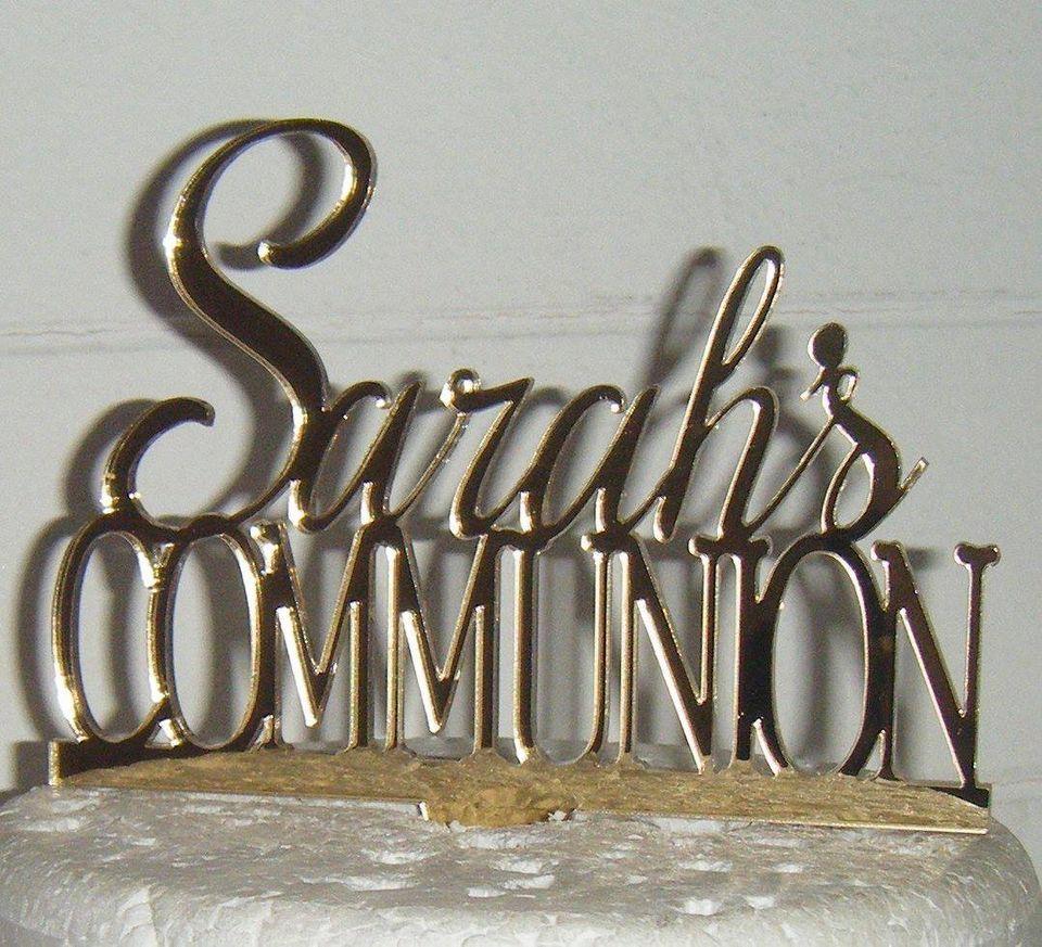 Custom Name - Communion Cake Topper